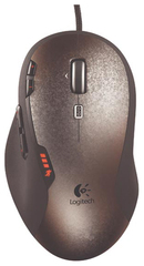 Logitech Mouse Laser GAMING G500 (USB,9btn+Roll, 200-5700 dpi,12 мегапикселей/сек)